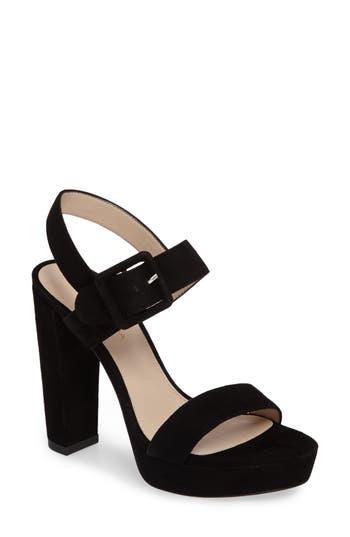Pelle Moda Paloma Platform Sandal- Black