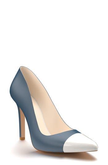 Shoes Of Prey Cap Toe Pump, Blue