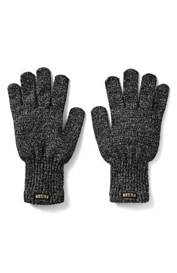 Filson Wool Blend Knit Gloves, Black