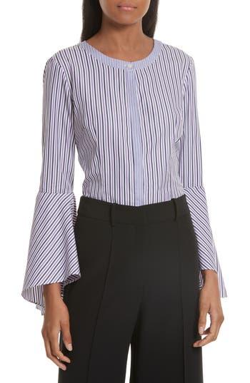 Women's Milly Stripe Shirting Blouse, Size 0 - Purple