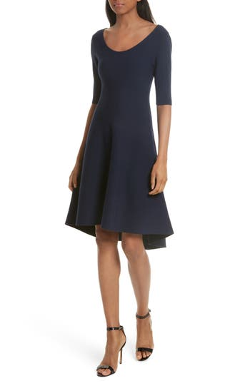 Milly Reversible Contrast A-Line Dress, Size Petite - Blue