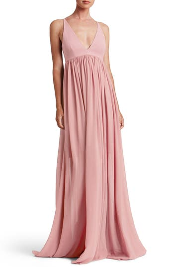 Dress The Population Phoebe Chiffon Gown, Pink