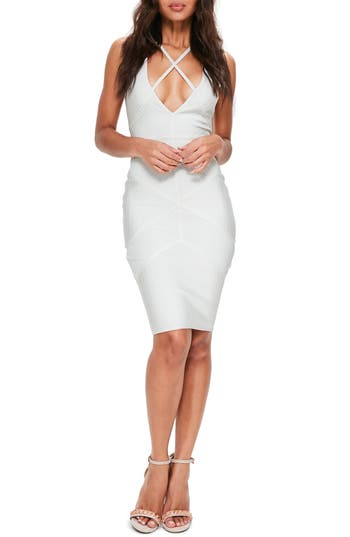 Missguided Premium Sleeveless Body-Con Dress, US / 6 UK - White