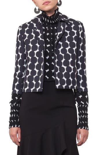 Women's Akris Punto Lace Dot Print Crop Jacket