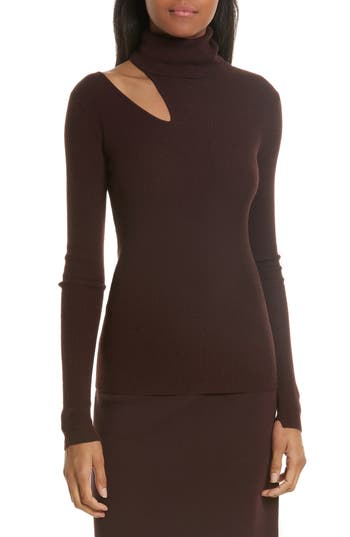 A.l.c. Kara Merino Wool Blend Cutout Sweater, Burgundy