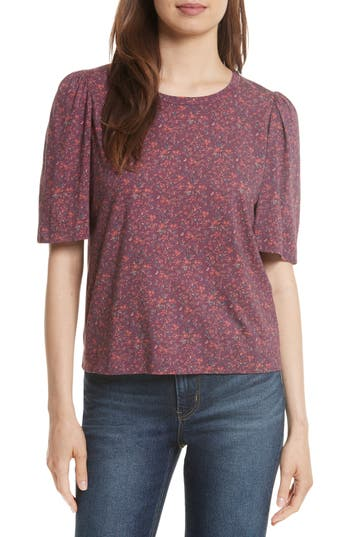 Rebecca Taylor Brittany Floral Jersey Top, Purple