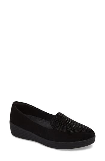 Fitflop Sparkly Sneakerloafer Slip-On- Black