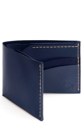 Ezra Arthur No. 6 Leather Wallet - Blue