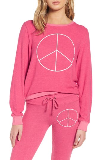Women's Dream Scene Peace Sweatshirt, Size XX-Small - Pink