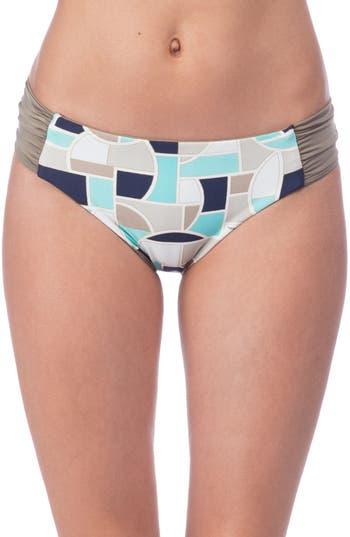 Trina Turk Disco Deco Reversible Bikini Bottoms, Blue