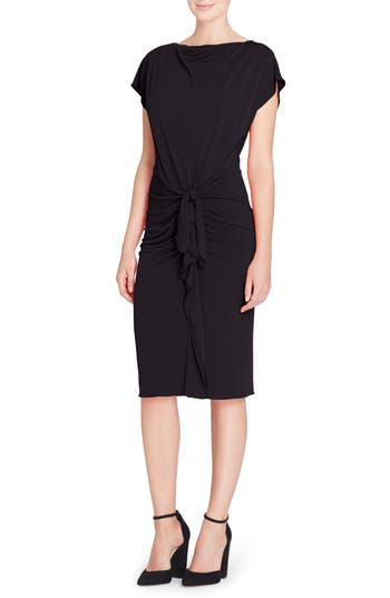 Catherine Catherine Malandrino Char Stretch Jersey Sheath Dress, Black