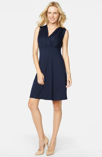 Maternal America Tummy Tuck Sleeveless Maternity/nursing Dress, Blue