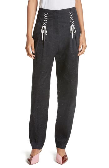 Women's Tibi Tie Front Tweed Pants at NORDSTROM.com