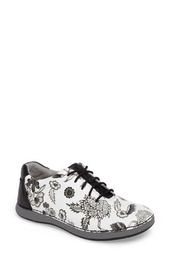 Alegria Essence Lace-Up Leather Oxford, White
