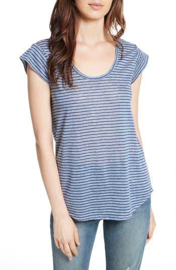 Joie Neyo Stripe Linen Tee, Blue
