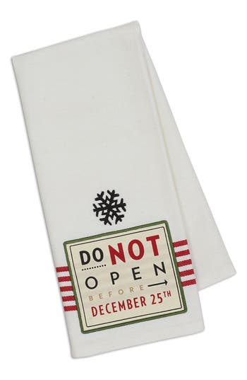 Design Imports December 25Th Dish Towel, Size One Size - Red