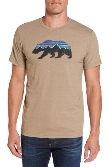 Patagonia Fitzroy Bear Graphic T-Shirt, Beige