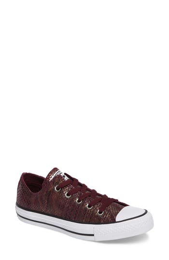 Converse Chuck Taylor All Star Ox Leather Sneaker, Burgundy