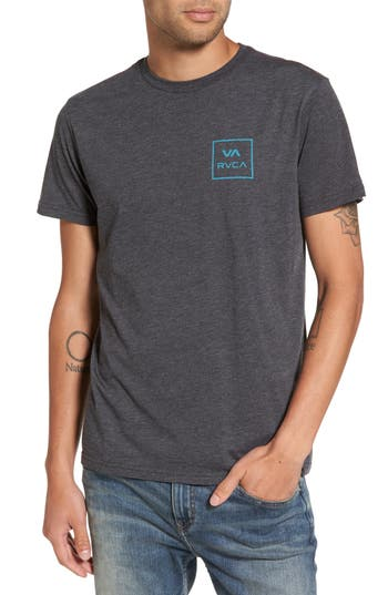 Rvca Grid All The Way Graphic T-Shirt, Black