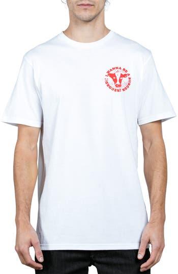 Volcom X Burger Records Wannabe T-Shirt, White