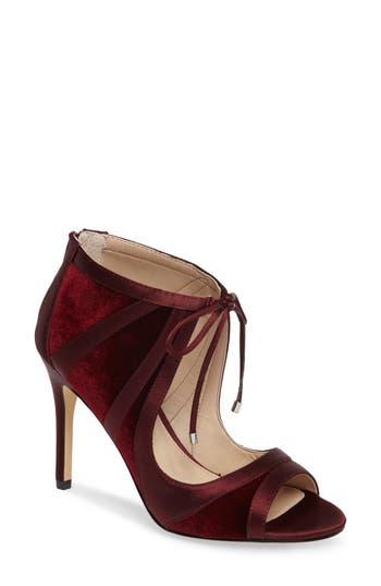 Women's Nina Cherie Illusion Sandal, Size 8.5 M - Burgundy