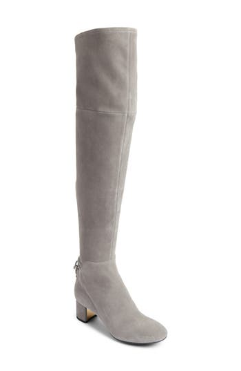 Tory Burch Laila Over The Knee Boot- Grey