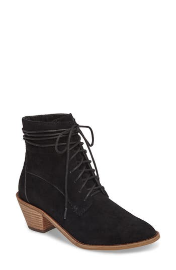 Kelsi Dagger Brooklyn Kingsdale Lace-Up Bootie- Black