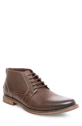 Steve Madden Pieter Leather Chukka Boot- Brown