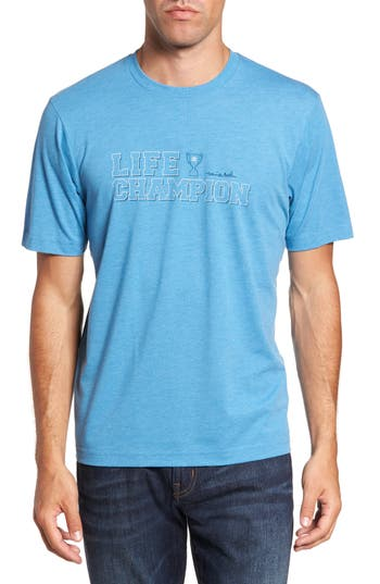 Travis Mathew Life Champion Graphic T-Shirt, Blue