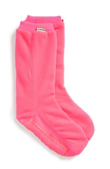 Kids Hunter Original Fitted Boot Socks Size XL (46)  Pink