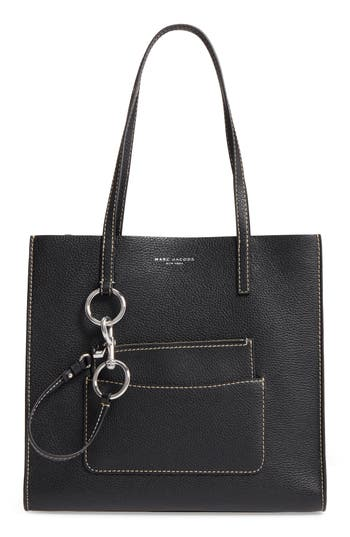 marc jacobs female marc jacobs the bold grind leather pocket tote blue