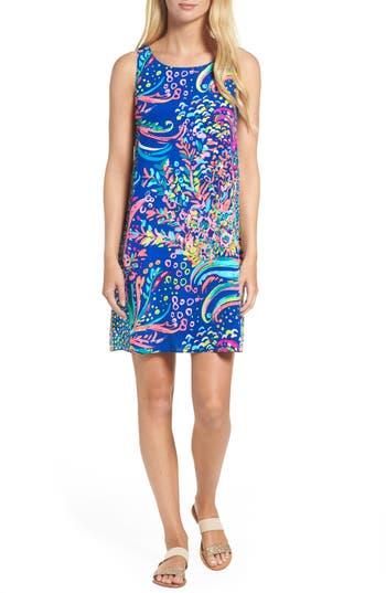 Lilly Pulitzer Jackie Silk Shift Dress, Blue