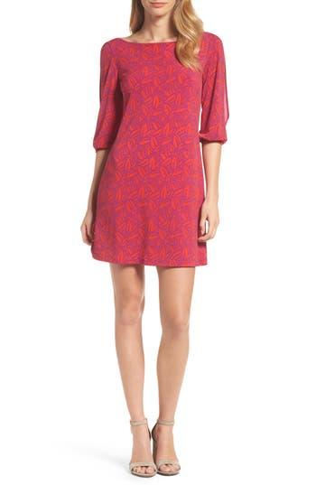Leota Nouveau Cold Shoulder Shift Dress, Red