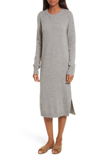 Equipment Snyder Cashmere Knit Midi Dress, Grey