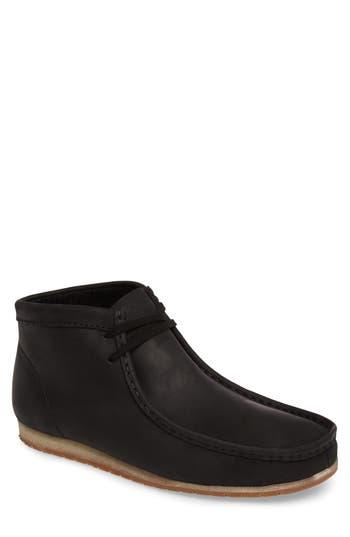 Clarks Wallabee Moc Toe Boot, Black