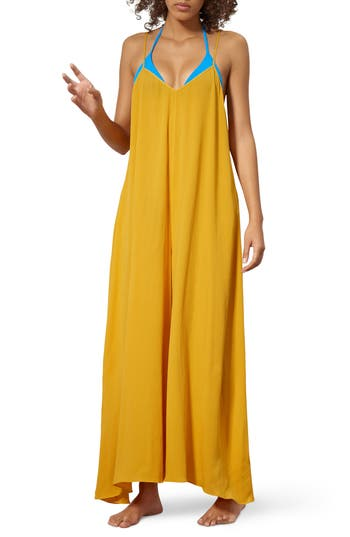Mara Hoffman Carly Cover-Up Jumpsuit, Yellow