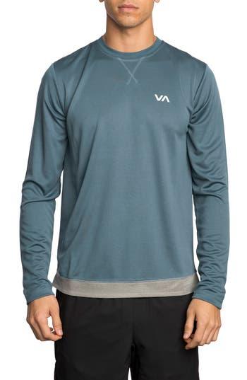 Rvca Runner Mesh T-Shirt, Blue/green