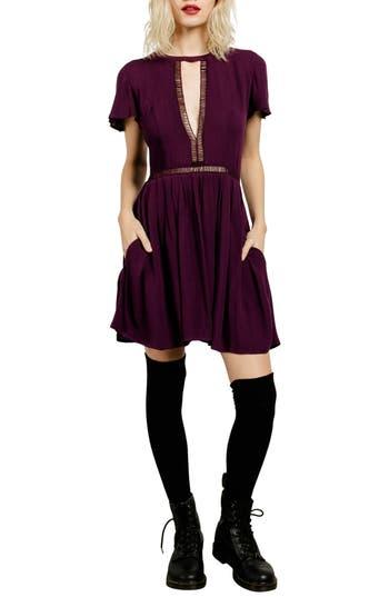 Volcom Even More Cutout Dress, Purple