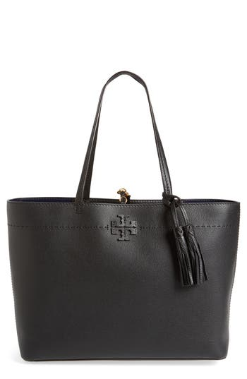 Tory Burch Mcgraw Leather Tote -
