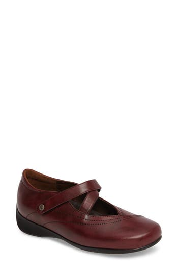 Wolky Passion Mary Jane Flat - Red