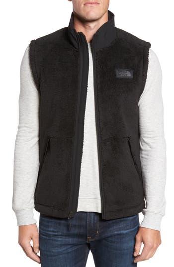 Men's The North Face Campshire Fleece Vest, Size Small - Black