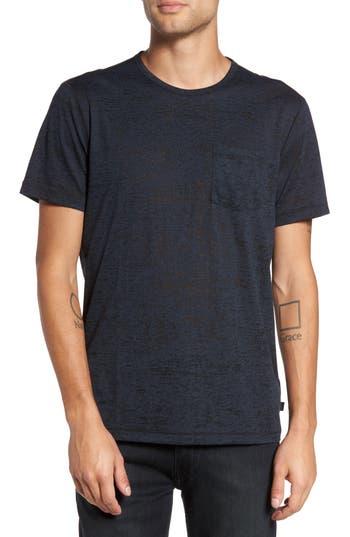 John Varvatos Star Usa Burnout Trim Fit T-Shirt, Blue