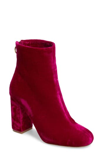 Joie Saleema Block Heel Bootie, Red