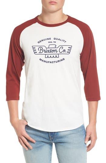 Brixton Concord Baseball T-Shirt, Ivory