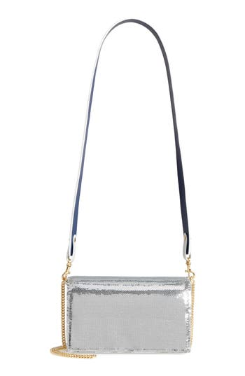 Diane Von Furstenberg Soiree Sequin Crossbody Clutch - Metallic
