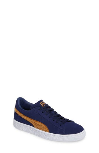 Boys Puma Classic Terry Jr Sneaker Size 5 M  Blue