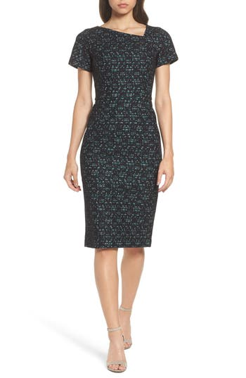 Maggy London Bonded Lace Sheath Dress, Blue