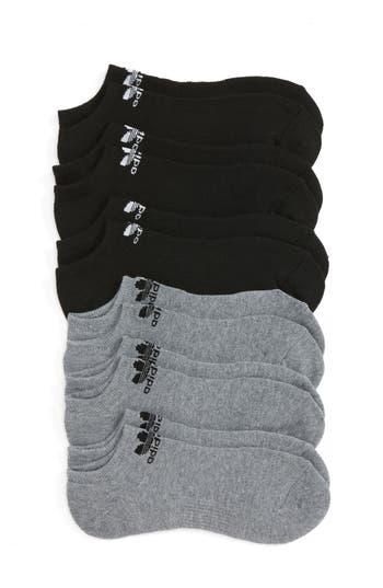 Boys Adidas Trefoil 6Pack NoShow Socks