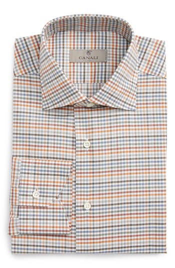 Men's Canali Regular Fit Check Dress Shirt