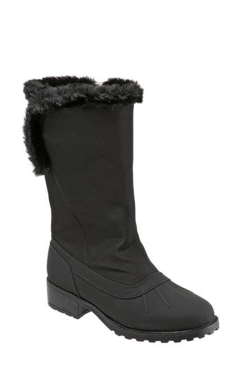 Trotters Bowen Waterproof Boot N - Black
